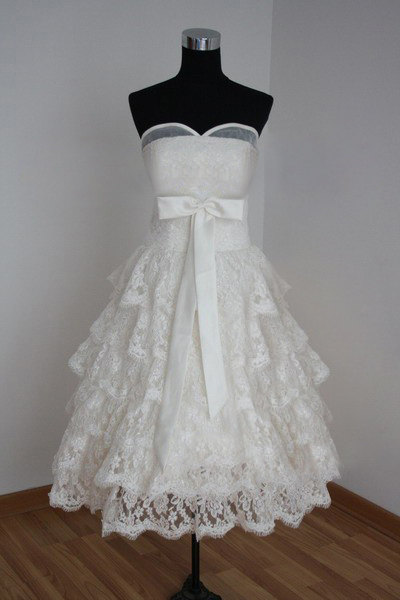 Tea Length Formal Sweetheart Long Ball Gown Lace Bridal Wedding Dresses Ball Gown c72