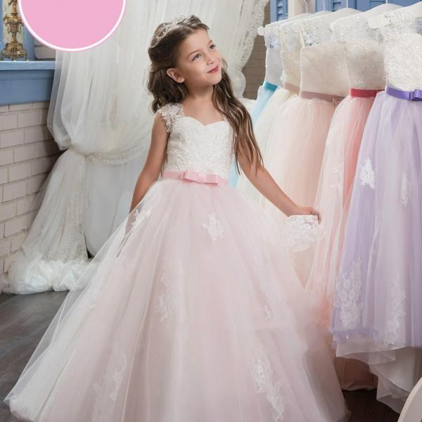 Simple Light Green Princess Gowns Pageant Flower Girl Dresses Kids ...