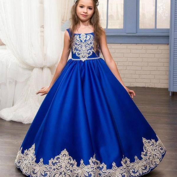 Princess Gowns Communion Party Prom Princess Pageant Bridesmaid Wedding Flower Girl Dress 65