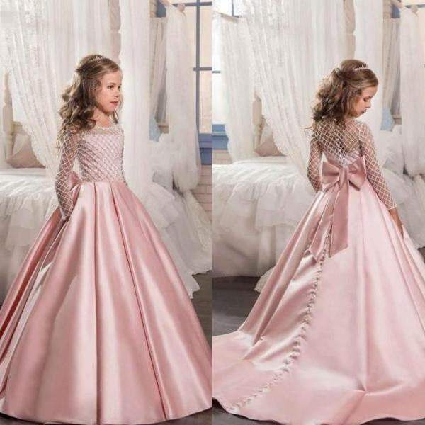 Flower Girls Princess Dress Kids Pageant Party Dance Wedding Birthday Ball Gown 82