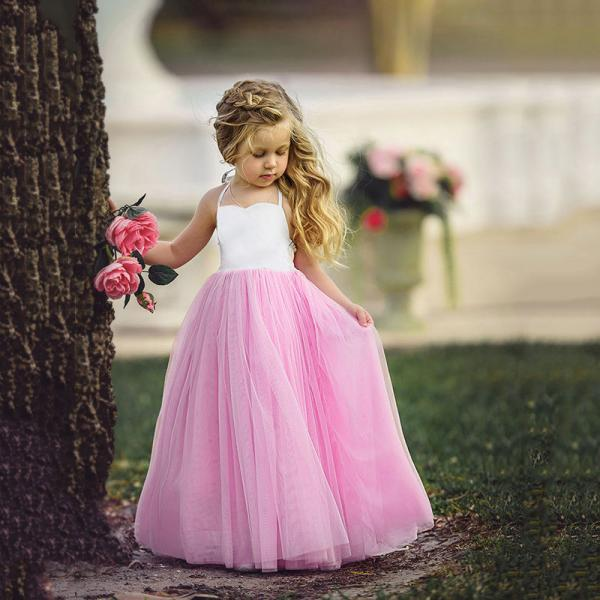 Flower Girl Dresses Pageant Party Dance Wedding Birthday Gift FORMAL Gown Kids 87
