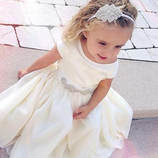 Cute Girl Birthday Wedding Party Formal Flower Girls Dress baby Pageant dresses 401