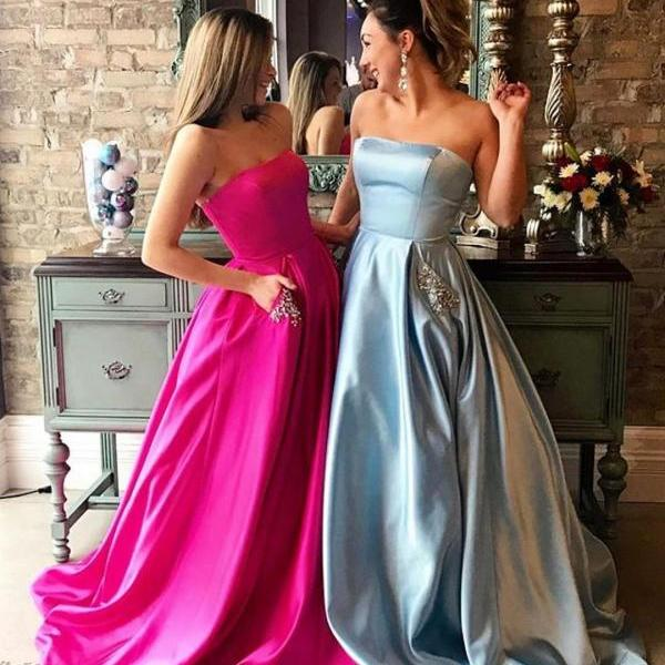 Soft Satin Prom Dresses Sweetheart Neck Women Party Dresses