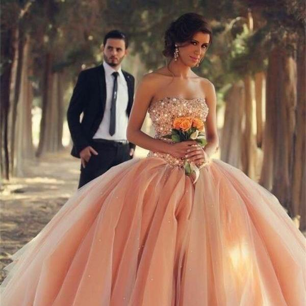 2016 New Formal Prom Party Pageant Quinceanera Dress Ball Gown Wedding Dresses