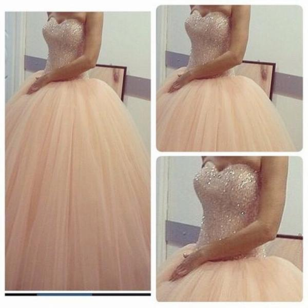 New Beaded Ball Gown Prom Dress Formal Evening Party Quinceanera Dress Wedding