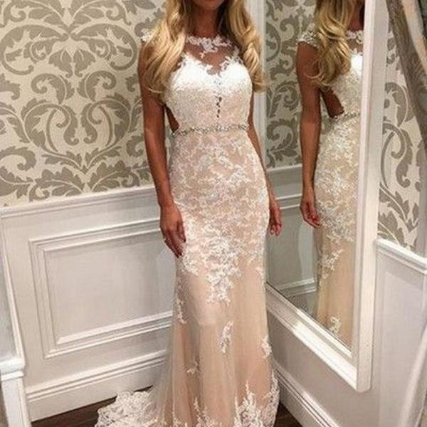New High Quality Prom Dress Appliques Prom Dress Mermaid Prom Dress Tulle Prom Dress Charming Evening Dress