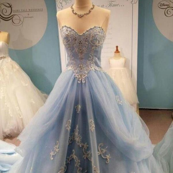 New Fashion Prom Dress Noble Prom Dress Sweetheart Prom Dress Tulle Prom Dress Appliques
