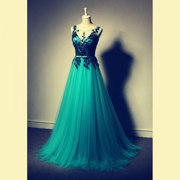 Sexy Prom Dress Long Sleeve prom Dress Appliques Prom Dress Chiffon Prom Dress V-Neck Prom Dress