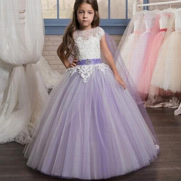 Communion Flower Girl Dress Party Prom Princess Pageant Bridesmaid Wedding ytz172 (1)