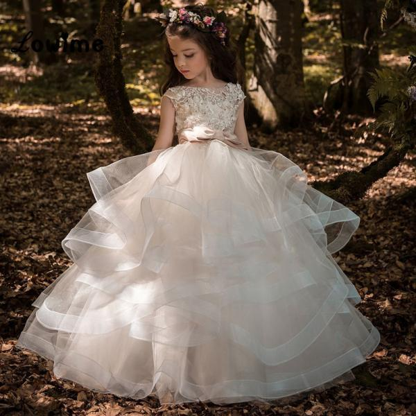 2019 Pageant Evening Girl Gowns Flower Girl Dresses For Weddings First Communion Girl Dress