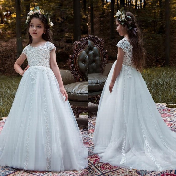 Girl/'s Lace Baby Princess Bridesmaid Flower Girl Dresses Wedding Party Dresses